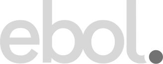 ebol.'s logo which solely consists of letters